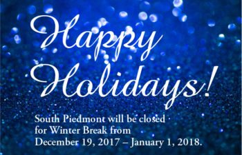 South Piedmont Campuses and Centers Winter Break Schedule