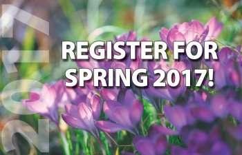 Register for SPRING 2017! Classes begin Jan. 9