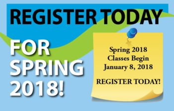 Register Today for Spring 2018!